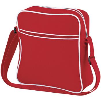 Taschen Jungen Umhängetaschen Bagbase BG16 Rot/Weiß