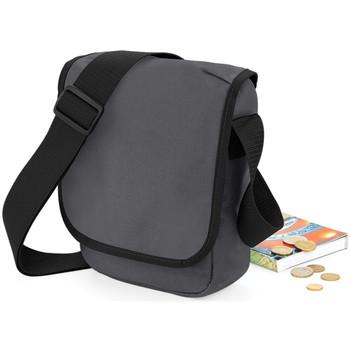 Taschen Jungen Umhängetaschen Bagbase BG18 Graphit/Schwarz