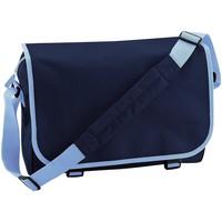 Taschen Jungen Schultasche Bagbase BG21 Dunkelblau/Hellblau