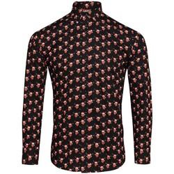 Kleidung Herren Langärmelige Hemden Christmas Shop CS001 Rentier schwarz