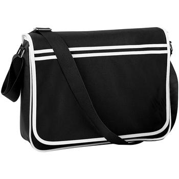 Taschen Jungen Schultasche Bagbase BG71 Schwarz/Weiß
