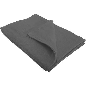 Home Handtuch und Waschlappen Sols Taille unique Dunkelgrau