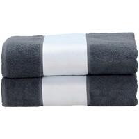 Home Handtuch und Waschlappen A&r Towels Taille unique Anthrazite Grau