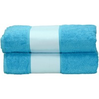 Home Handtuch und Waschlappen A&r Towels Taille unique Aqua Blau