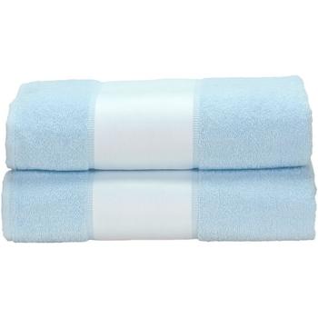 Home Handtuch und Waschlappen A&r Towels Taille unique Hellblau