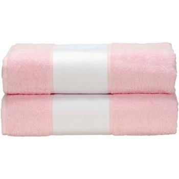 Home Handtuch und Waschlappen A&r Towels Taille unique Helles Pink