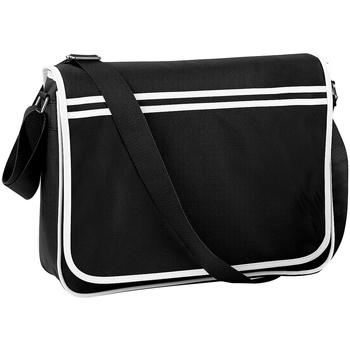 Taschen Jungen Umhängetaschen Bagbase BG71 Schwarz/Weiß