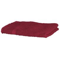 Home Handtuch und Waschlappen Towel City Taille unique Dunkelrot