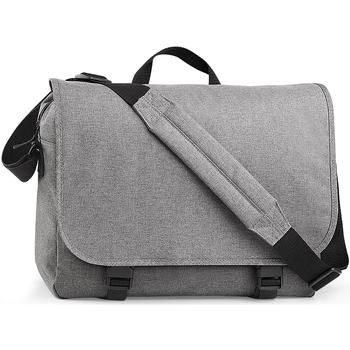 Taschen Jungen Schultasche Bagbase BG218 Grau meliert