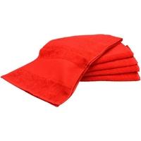 Home Handtuch und Waschlappen A&r Towels Taille unique Feuerrot