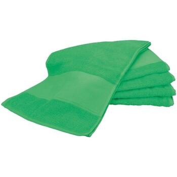 Home Handtuch und Waschlappen A&r Towels Taille unique Grün