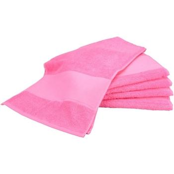 Home Handtuch und Waschlappen A&r Towels Taille unique Pink