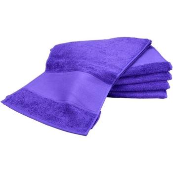 Home Handtuch und Waschlappen A&r Towels Taille unique Violett
