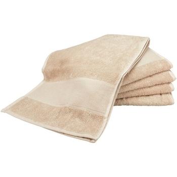 Home Handtuch und Waschlappen A&r Towels Taille unique Sand