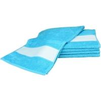 Home Handtuch und Waschlappen A&r Towels 30 cm x 140 cm Aqua Blau
