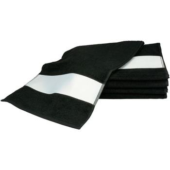 Home Handtuch und Waschlappen A&r Towels 30 cm x 140 cm Schwarz