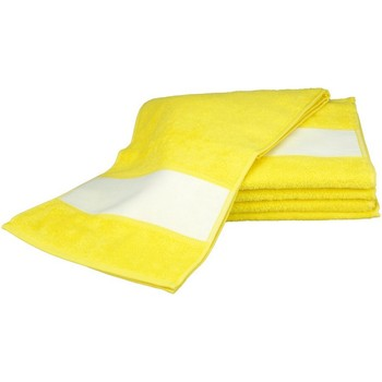 Home Handtuch und Waschlappen A&r Towels 30 cm x 140 cm Hell Gelb
