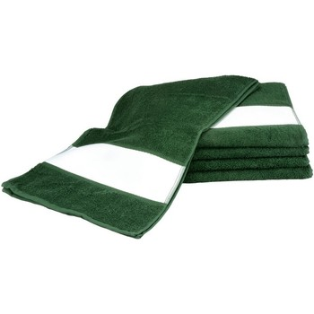 Home Handtuch und Waschlappen A&r Towels 30 cm x 140 cm Dunkelgrün