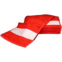 Home Handtuch und Waschlappen A&r Towels 30 cm x 140 cm Feuerrot