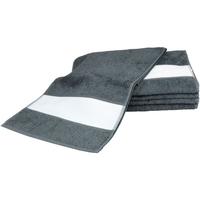 Home Handtuch und Waschlappen A&r Towels 30 cm x 140 cm Graphite