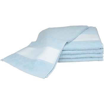 Home Handtuch und Waschlappen A&r Towels 30 cm x 140 cm Hellblau