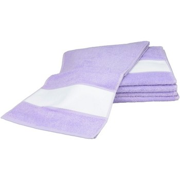 Home Handtuch und Waschlappen A&r Towels 30 cm x 140 cm Hell Lila