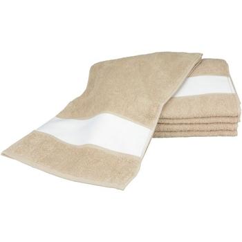 Home Handtuch und Waschlappen A&r Towels 30 cm x 140 cm Sand