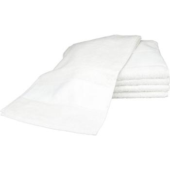 Home Handtuch und Waschlappen A&r Towels 30 cm x 140 cm Weiß