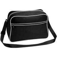 Taschen Jungen Schultasche Bagbase BG14 Schwarz/Weiß