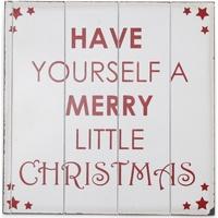 Home Weihnachtsdekorationen Christmas Shop (40 x 40 cm) RW3841 Weiß/Rot