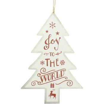 Home Weihnachtsdekorationen Christmas Shop RW5076 Weiß/Joy