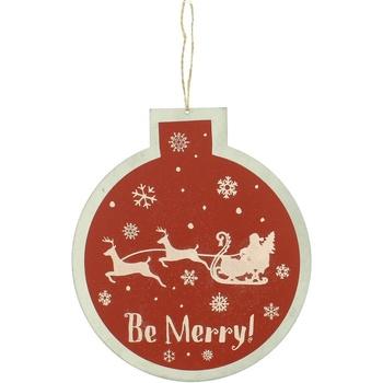 Home Weihnachtsdekorationen Christmas Shop RW5077 Rot/Be Merry