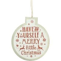 Home Weihnachtsdekorationen Christmas Shop Taille unique Weiß/Merry