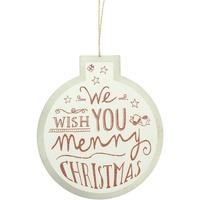 Home Weihnachtsdekorationen Christmas Shop RW5077 Weiß/Wish