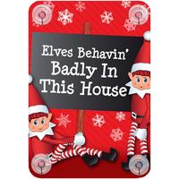 Home Weihnachtsdekorationen Christmas Shop Taille unique Elves behaving badly