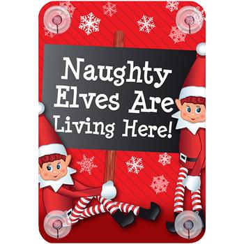 Home Weihnachtsdekorationen Christmas Shop RW6420 Naughty elves are living here