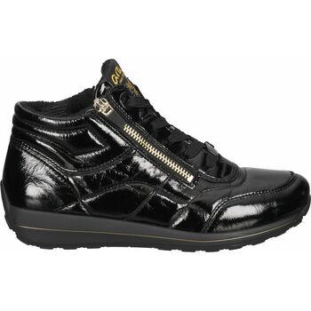 Schuhe Damen Sneaker High Ara Sneaker Schwarz Lack