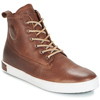 Schuhe Herren Sneaker High Blackstone INCH WORKER ON FOXING FUR Braun