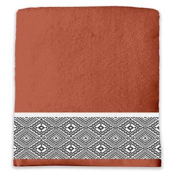 Home Handtuch und Waschlappen Douceur d intérieur ESTEBAN Rot
