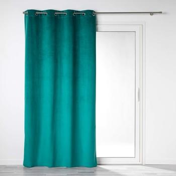 Home Vorhänge, Jalousien Douceur d intérieur VELOUNIGHT Smaragd