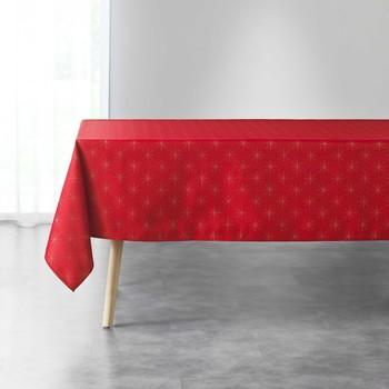 Home Tischdecke Douceur d intérieur ETOILES Rot / Schattengrau / Goldfarben