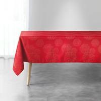 Home Tischdecke Douceur d intérieur ARTIFICE Rot / Schattengrau / Goldfarben
