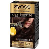 Beauty Damen Haarfärbung Syoss Olio Intense Tinte Sin Amoniaco 4.86-castaño Helado