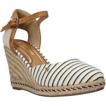 Schuhe Damen Leinen-Pantoletten mit gefloch Wrangler WL01510A Beige