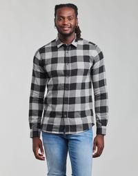 Kleidung Herren Langärmelige Hemden Only & Sons  ONSGUDMUND Schwarz / Weiss