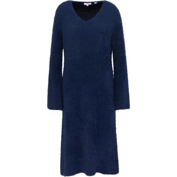 Kleidung Damen Maxikleider Mymo Strickkleid 12411465 Marine