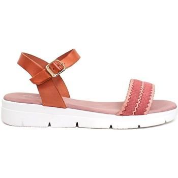 Schuhe Damen Sandalen / Sandaletten Gennia ALTEA Rindsleder lachsrosa und nude Pink