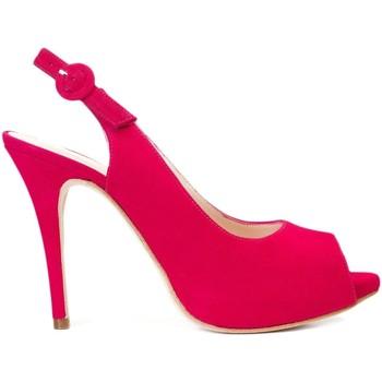 Schuhe Damen Sandalen / Sandaletten Gennia CAMILA Veloursleder Pink Ray Pink