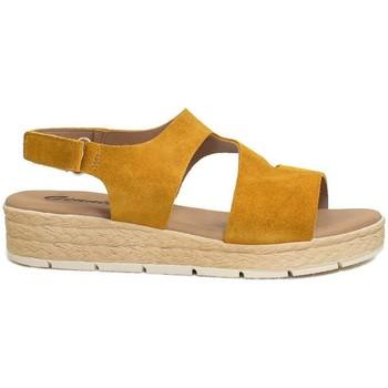Schuhe Damen Sandalen / Sandaletten Gennia DANA Rauhleder ocker senfgelb Other
