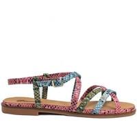 Schuhe Damen Sandalen / Sandaletten Gennia FARA Leder mit Schlangenprägung